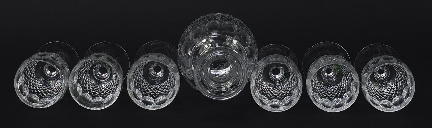 Waterford Crystal Colleen pattern decanter and six glasses with boxes, the decanter 26cm high : - Image 7 of 9