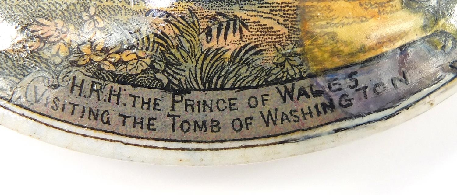 Fifteen 19th century Prattware pot lids including Uncle Toby, HRH Prince of Wales visiting the - Image 4 of 4