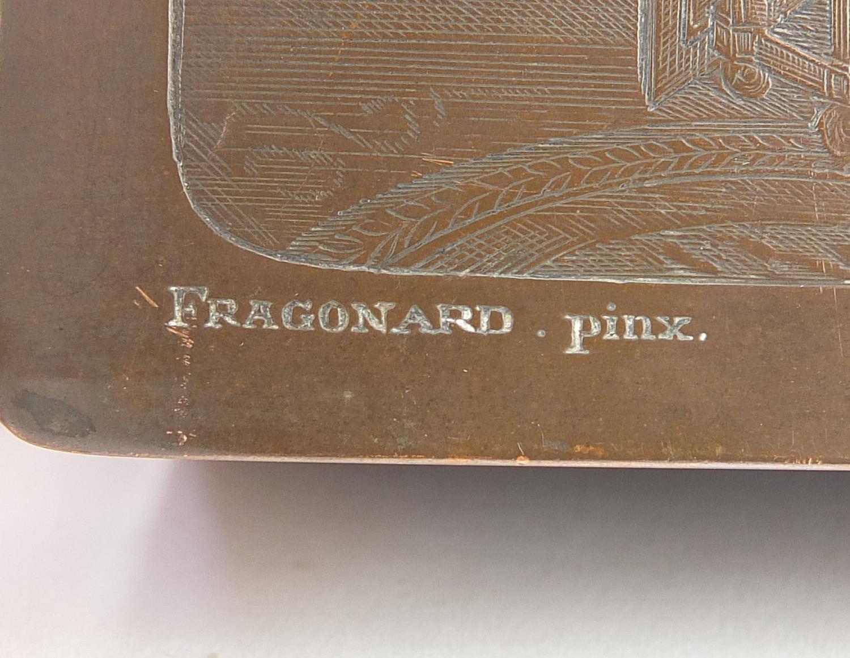 WMF silver plated casket titled Le Baiser a la Derdbee, 5.5cm H x 13.5cm W x 9cm D : For Further - Image 6 of 13