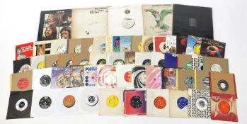 Vinyl LP's and singles including The Beatles Let It Be Red Apple cover, Joy Division Unknown