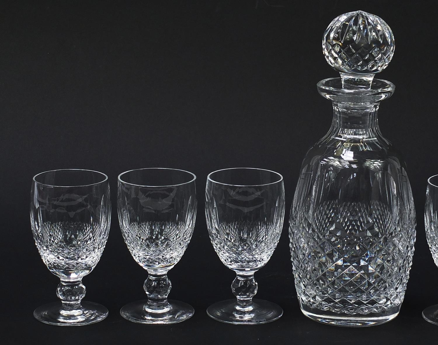 Waterford Crystal Colleen pattern decanter and six glasses with boxes, the decanter 26cm high : - Image 3 of 9