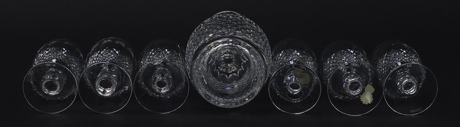 Waterford Crystal Colleen pattern decanter and six glasses with boxes, the decanter 26cm high : - Image 8 of 9