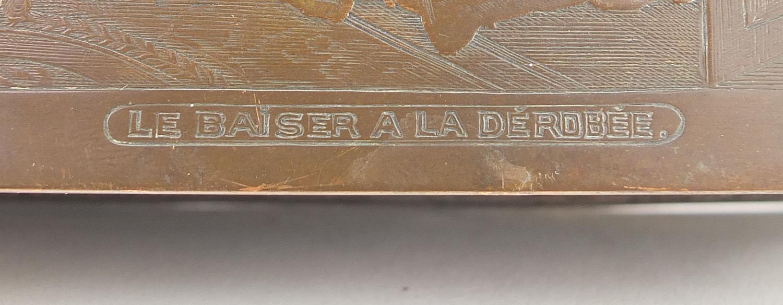 WMF silver plated casket titled Le Baiser a la Derdbee, 5.5cm H x 13.5cm W x 9cm D : For Further - Image 8 of 13