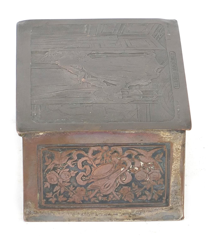 WMF silver plated casket titled Le Baiser a la Derdbee, 5.5cm H x 13.5cm W x 9cm D : For Further - Image 11 of 13
