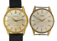 Seiko, two vintage gentlemen's automatic wristwatches with date aperture, each 36mm in diameter :