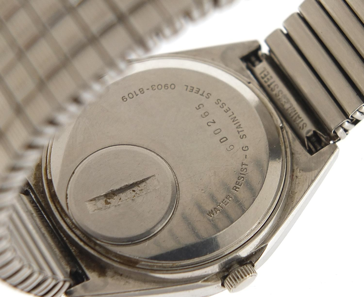 Seiko, vintage gentlemen's quartz wristwatch with day date aperture, numbered 6D0265, 35mm in - Image 4 of 6