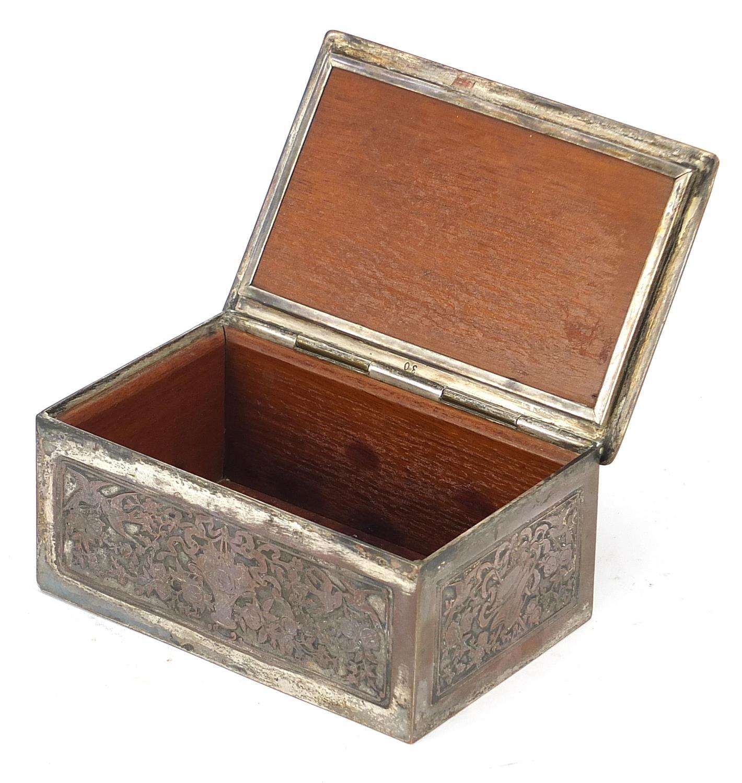 WMF silver plated casket titled Le Baiser a la Derdbee, 5.5cm H x 13.5cm W x 9cm D : For Further - Image 2 of 13