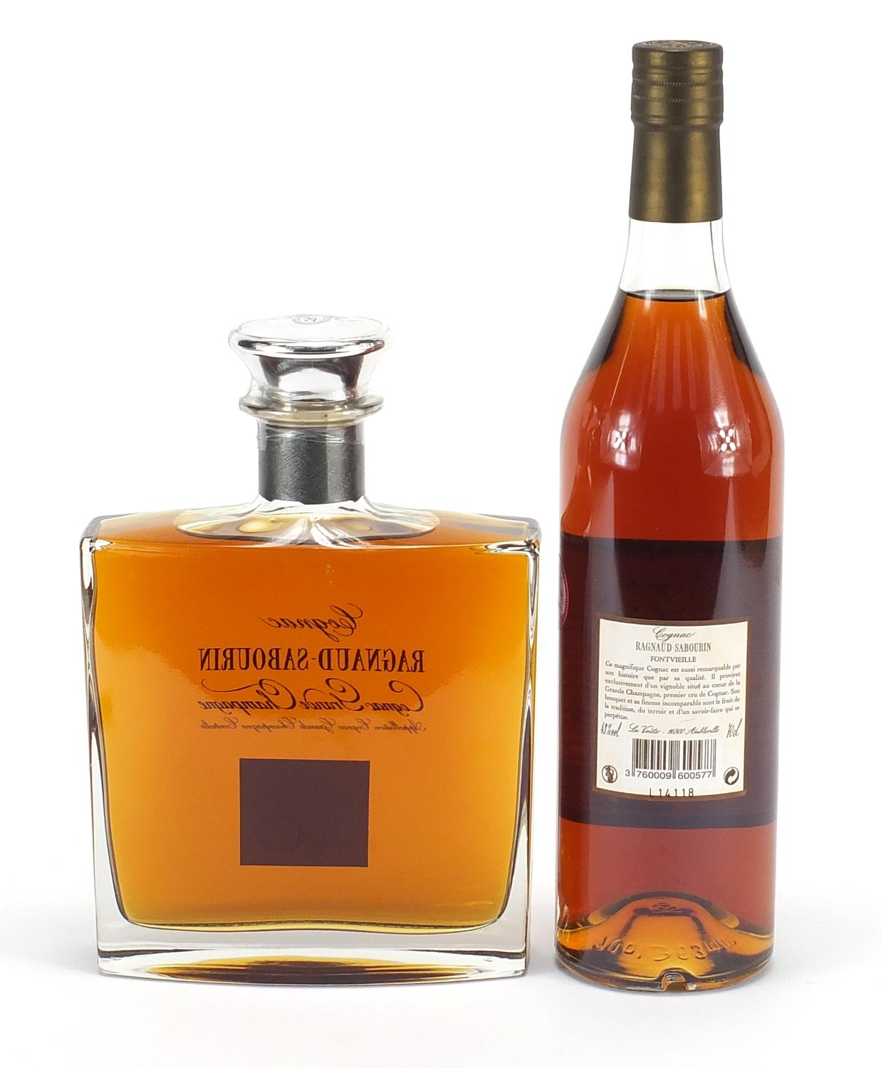 Two bottles of Ragnaud-Sabourin Cognac Grande Champagne comprising XO no 25 and no 35 : For - Image 2 of 2