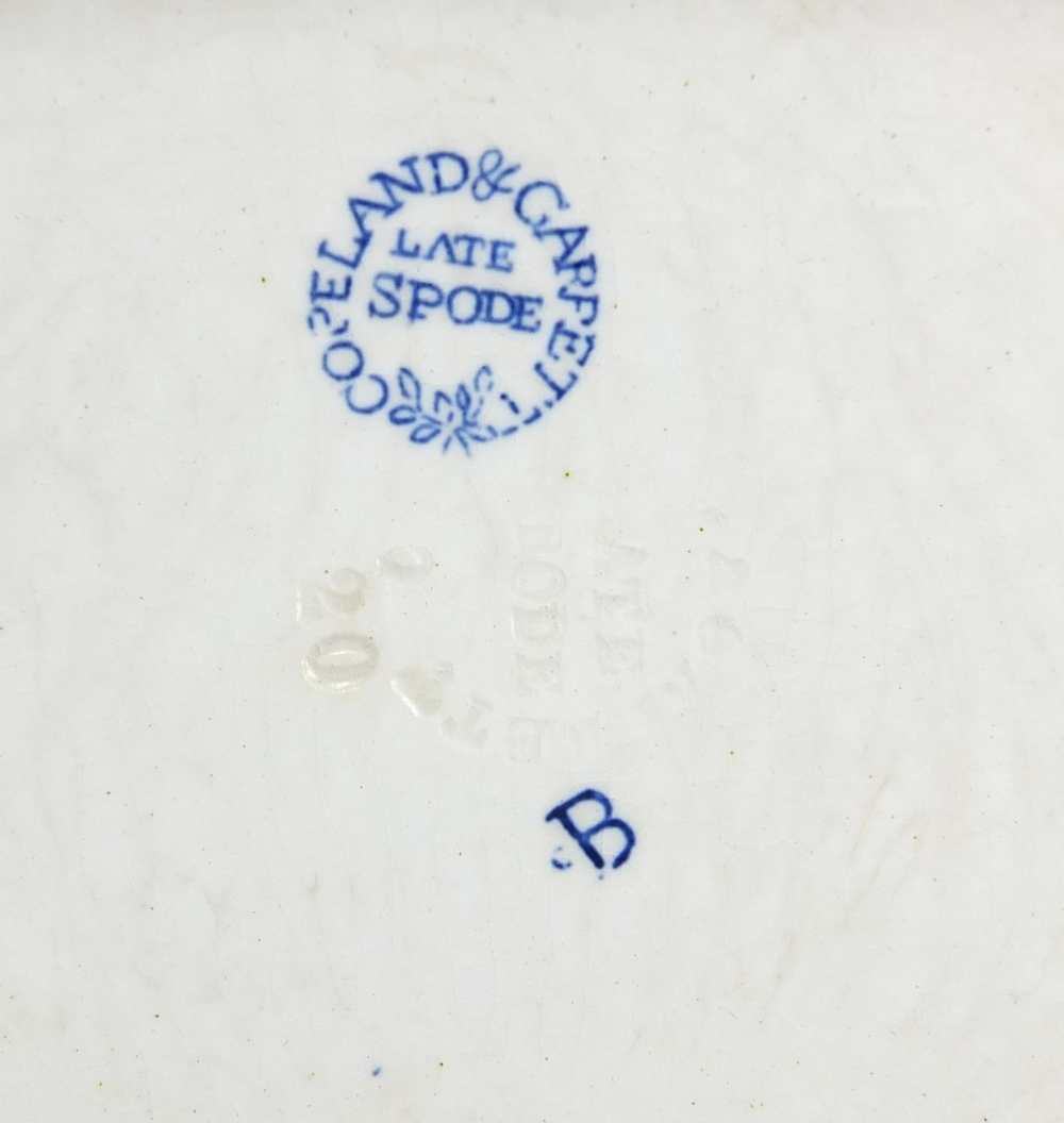 19th century ceramics including a Prattware Late Prince Consort pot lid and Copeland Spode blue - Image 5 of 6