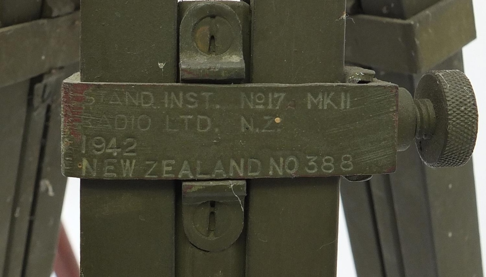 Two military interest floor standing tripods/stands including MO17 MKII dated 1942, the largest - Image 3 of 4