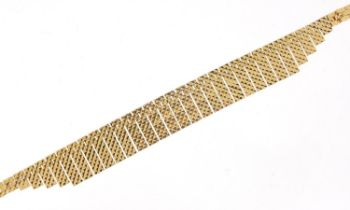 9ct gold Egyptian design necklace, 43cm in length, 34.0g : For Further Condition Reports Please