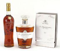 Two bottles of cognac comprising Courvoisier VSOP Exclusive and Jean Fillioux So Elegantissima 1er