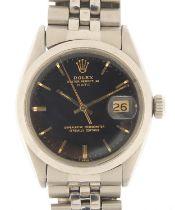 Rolex, gentlemen's Oysterdate Perpetual Date wristwatch, model 1500, serial number 2282229, 34mm