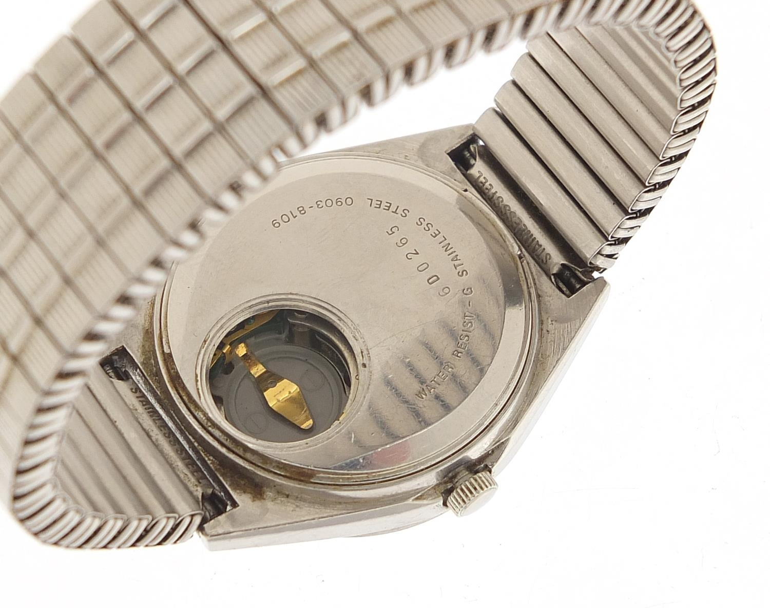 Seiko, vintage gentlemen's quartz wristwatch with day date aperture, numbered 6D0265, 35mm in - Image 3 of 6