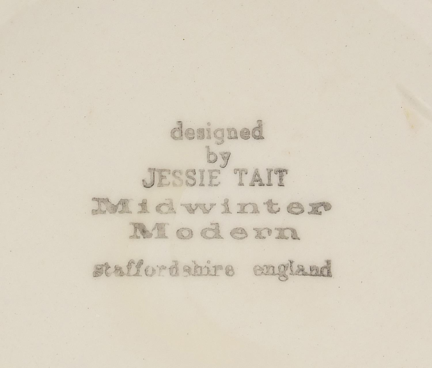 Jessie Tait for Midwinter, modern vase with painted red stripes, 28.5cm high : For Further Condition - Image 5 of 5