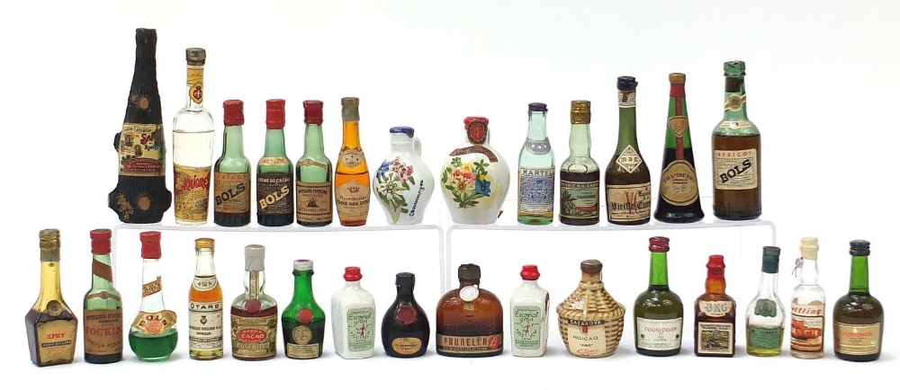Alcohol miniatures including Martell, Bols and Courvoisier Cognac : For Further Condition Reports