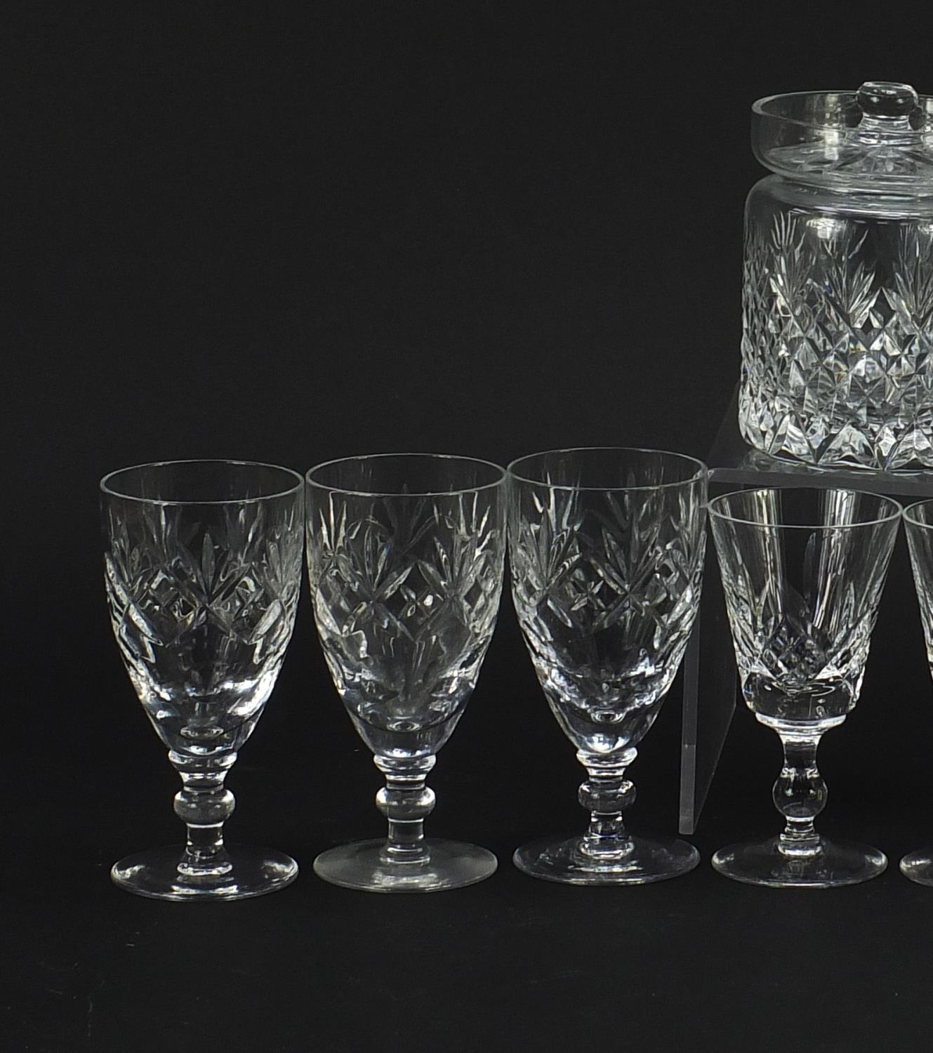 Cut glassware and crystal including pair of Waterford casters, Stuart and Royal Doulton, the largest - Image 2 of 8