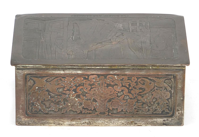 WMF silver plated casket titled Le Baiser a la Derdbee, 5.5cm H x 13.5cm W x 9cm D : For Further - Image 10 of 13