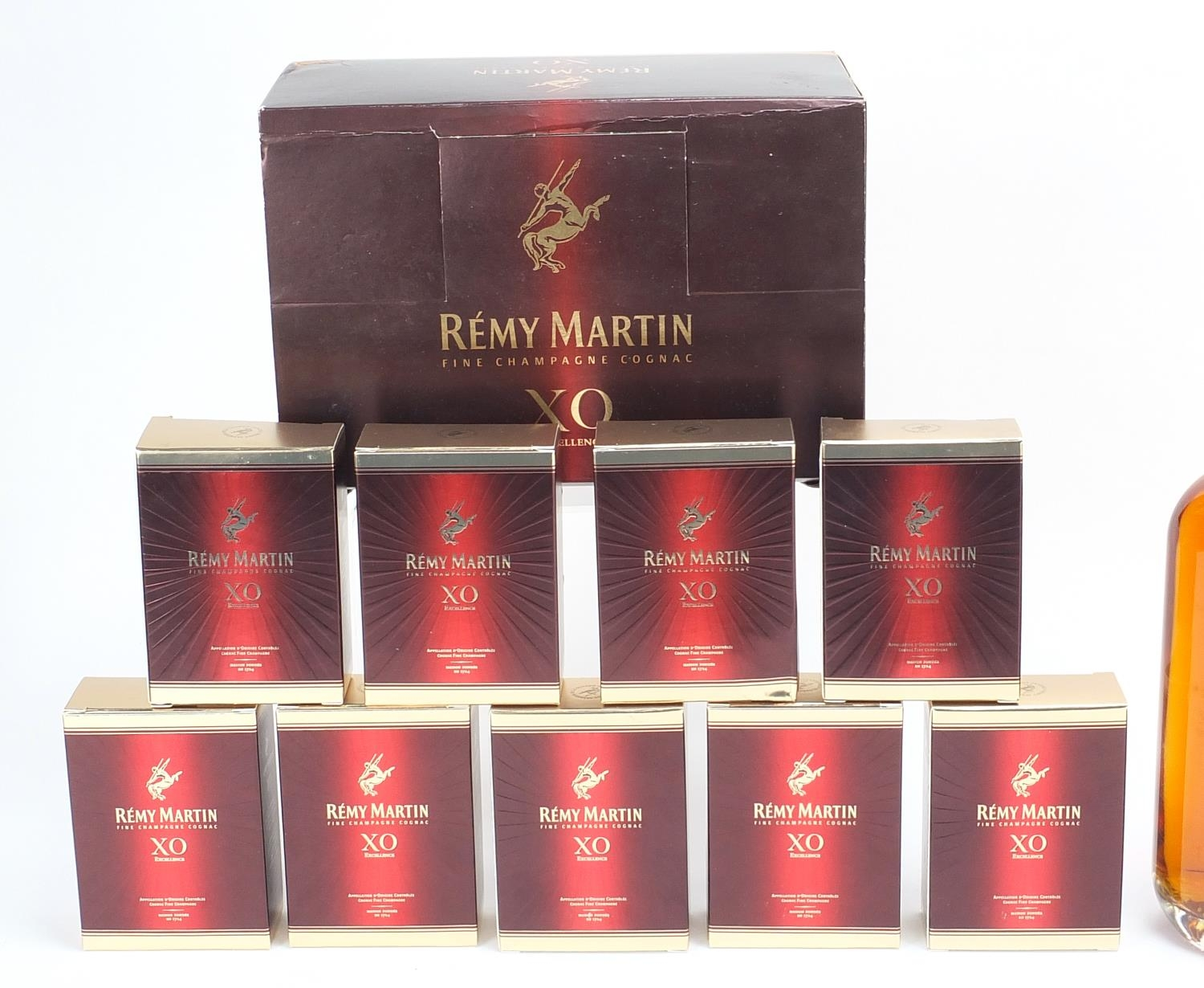 Alcohol comprising nine 5cl bottles of Remy Martin XO fine Champagne cognac, Mount Gay XO Barbados - Image 2 of 3