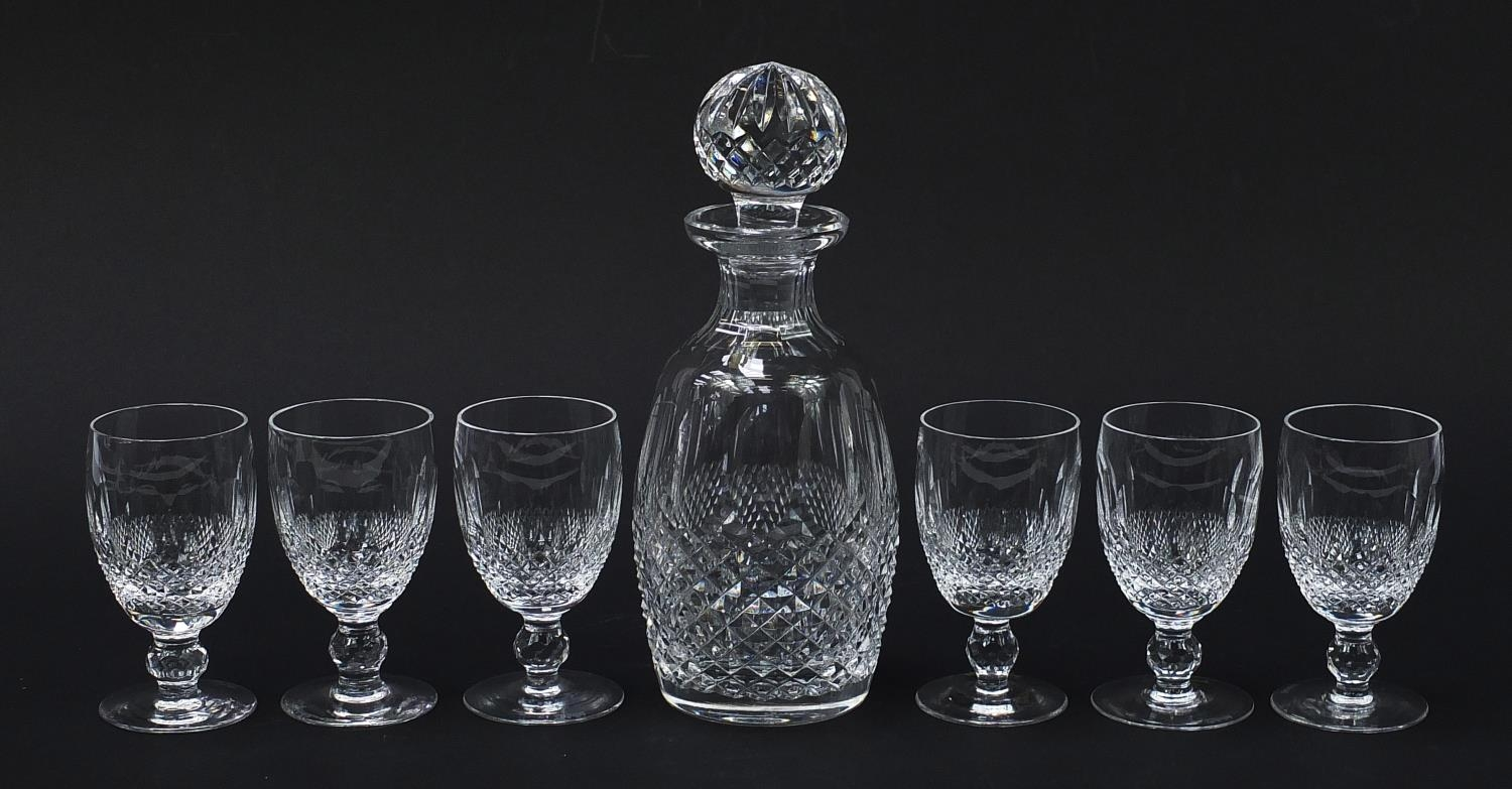 Waterford Crystal Colleen pattern decanter and six glasses with boxes, the decanter 26cm high : - Image 2 of 9