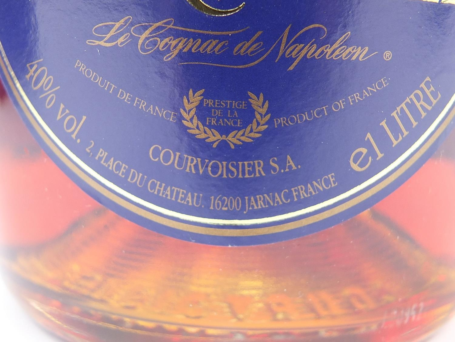 Sixteen bottles of alcohol including one litre bottle of Courvoisier cognac with box, Veuve - Image 6 of 7