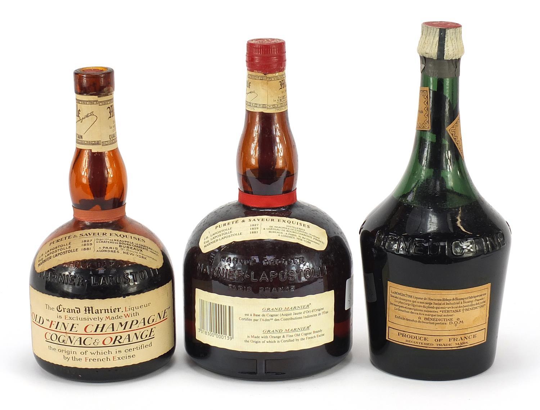 Three vintage bottles of liqueur comprising Grand Marnier Old Fine Champagne Cognac and Orange, - Image 2 of 2