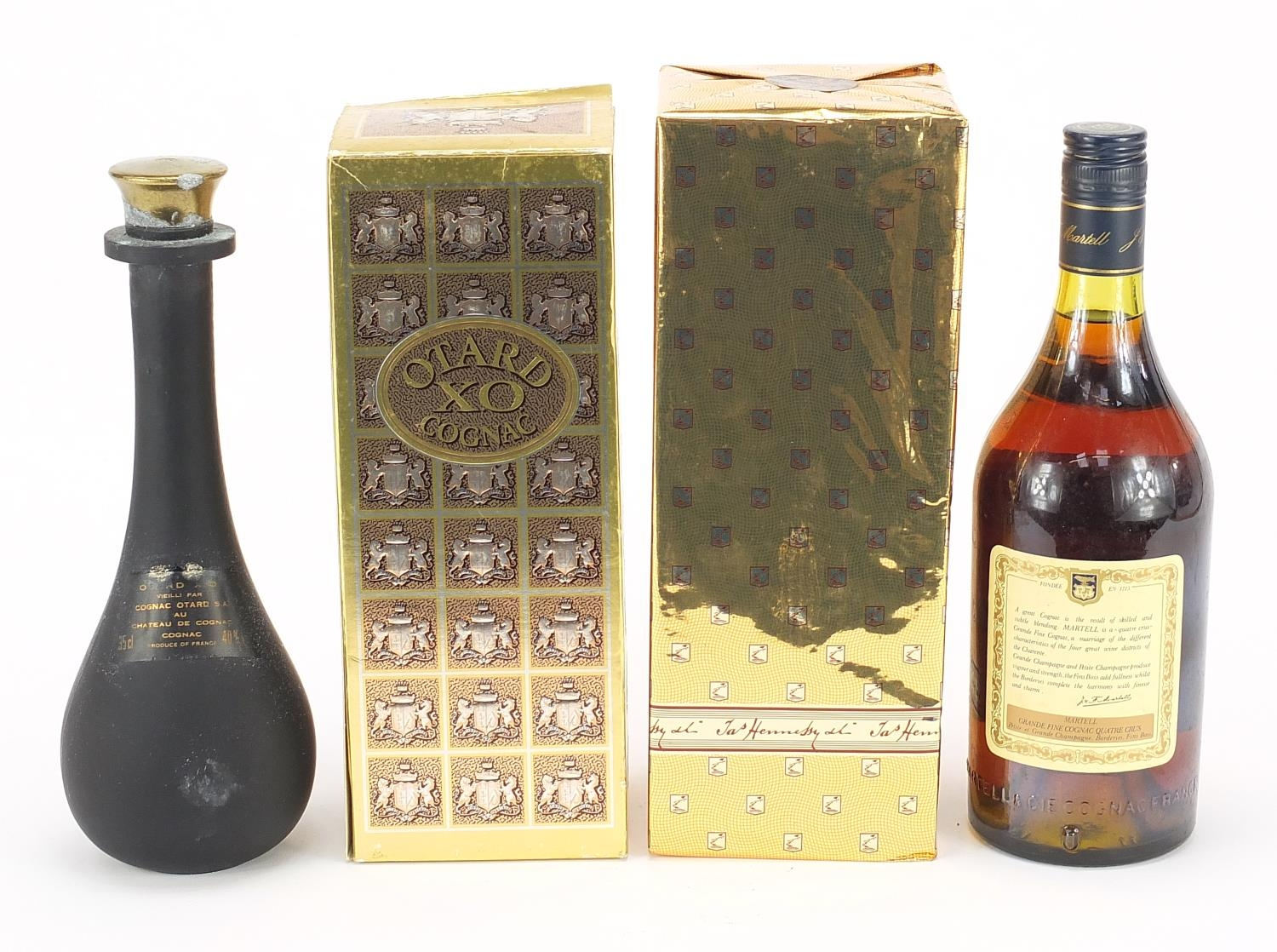 Three vintage bottles of cognac, two with boxes, one sealed, comprising Otard XO, Hennesey Very - Image 2 of 2