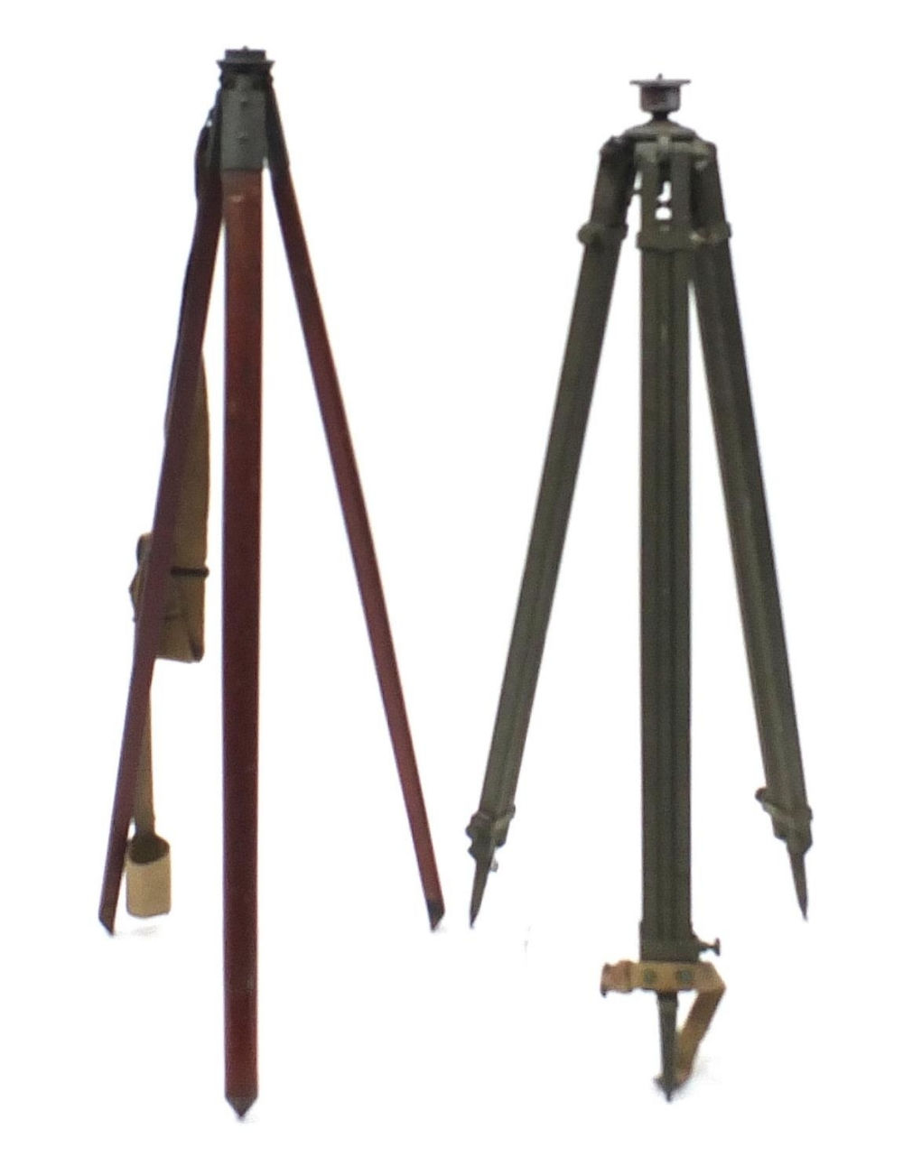 Two military interest floor standing tripods/stands including MO17 MKII dated 1942, the largest - Image 4 of 4