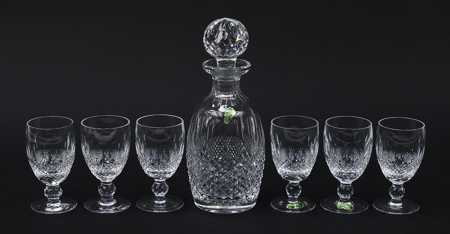 Waterford Crystal Colleen pattern decanter and six glasses with boxes, the decanter 26cm high : - Image 5 of 9
