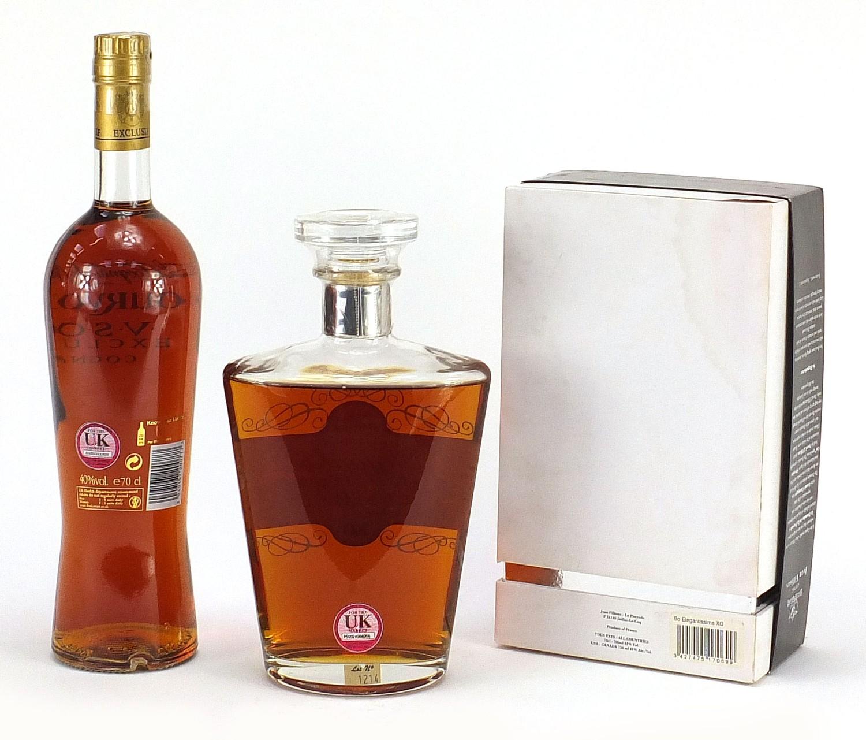 Two bottles of cognac comprising Courvoisier VSOP Exclusive and Jean Fillioux So Elegantissima 1er - Image 3 of 3