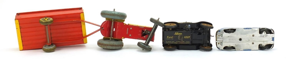 Antique and later tinplate toys comprising a Schuco Ford Coupet 1917, Chad Valley Harborme car and a - Image 5 of 6