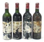 Four bottles of Clos Fourtet St Emilion 1er Grande Cru red wine, two bottles dated 1978 : For