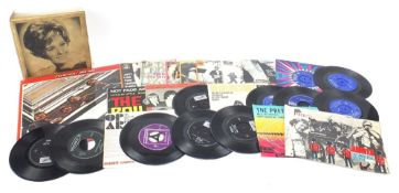 Vinyl LP's and 45rpm records including The Rolling Stones, The Beatles and Bob Dylan : For Further