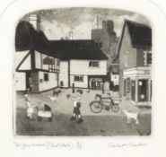 Graham Clarke - For you Madame, (Second state) pencil signed etching, limited edition 8/15, mounted,