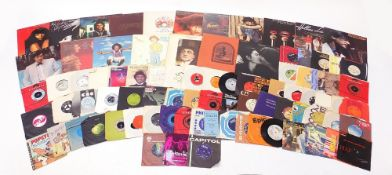 Vinyl LP's and 45 rpm records including George Harrison, The Concert for Bangladesh box set, Leo