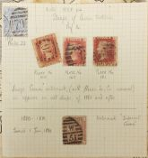 Victorian and later British and world stamps arranged in two albums including Penny Reds : For