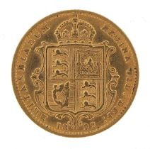 Queen Victoria Jubilee Head 1892 gold shield back half sovereign - this lot is sold without buyer?