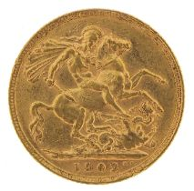 Edward VII 1902 gold sovereign - this lot is sold without buyer's premium