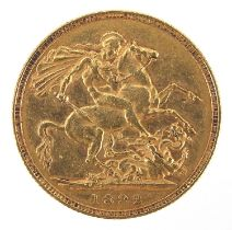 Queen Victoria Jubilee head 1892 gold sovereign - this lot is sold without buyer's premium