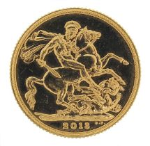 Elizabeth II 2013 gold sovereign - this lot is sold without buyer's premium