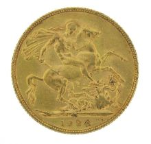 George V 1928 gold sovereign, South African mint - this lot is sold without buyer's premium