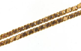 9ct gold necklace, 53cm in length, 12.7g - this lot is sold without buyer's premium