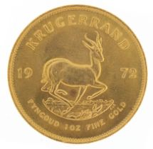 South African 1972 gold krugerrand - this lot is sold without buyer's premium