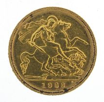 Elizabeth II 1982 gold half sovereign - this lot is sold without buyer's premium