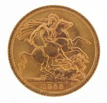 Elizabeth II 1965 gold sovereign - this lot is sold without buyer's premium