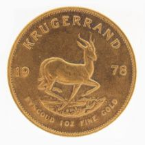 South African 1978 gold Krugerrand - this lot is sold without buyer's premium