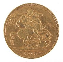 Edward VII 1903 gold sovereign - this lot is sold without buyer's premium