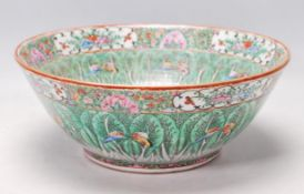 19TH CENTURY CHINESE ORIENTAL CENTRE PIECE BOWL