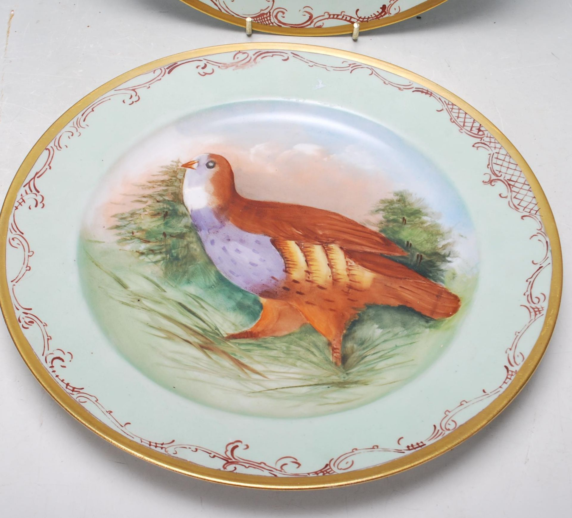 SET 4 JEAN POUYAT LIMOGES GAME BIRD CABINET PLATES - Image 4 of 6