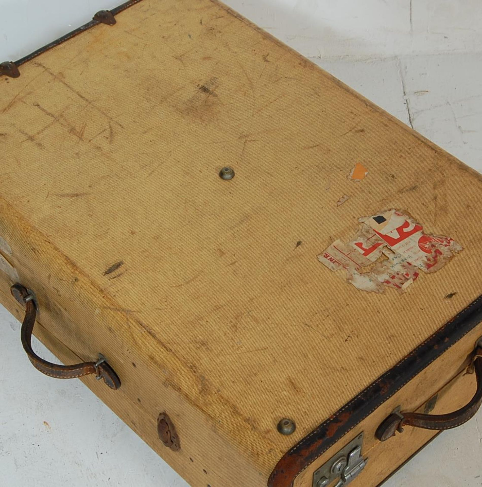 COLLECTION OF THREE EARLY 20TH CENTURY STEAMER TRUNKS - Image 3 of 12